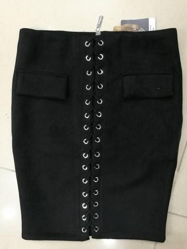 spódnica zamszowa sznurowana M