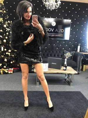 sukienka cekin czarna
