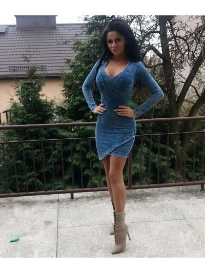 sukienka ala jeans M/L