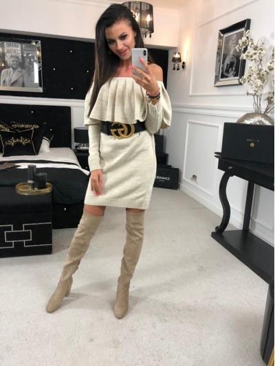 sukienka sweterkowa hiszpanka