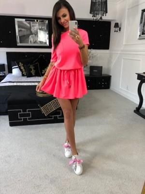 sukienka troczek neon