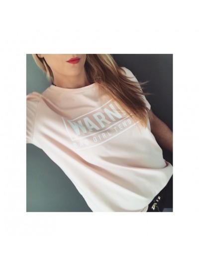koszulka warning różowa