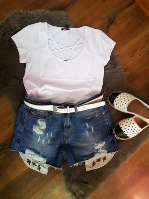 spodenki jeansowe  S/M
