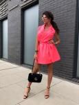 sukienka przekładana neon