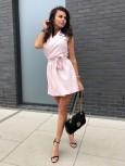 sukienka przekładana bezowa