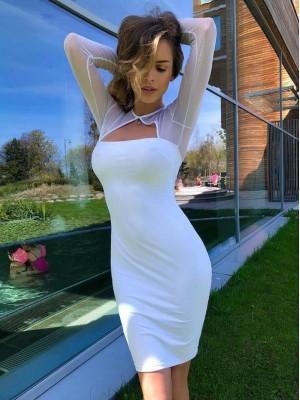 sukienka sensual biała