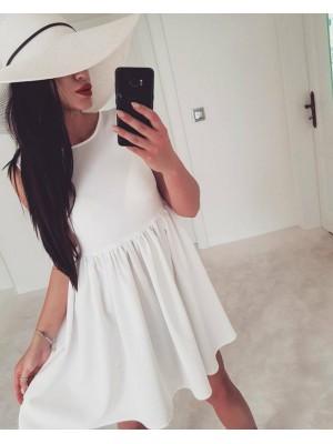 sukienka by me biała m/l