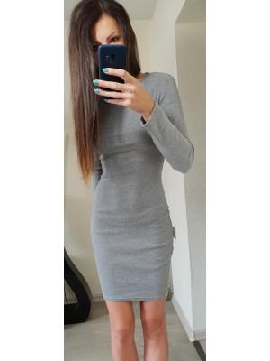 sukienka prązek szara