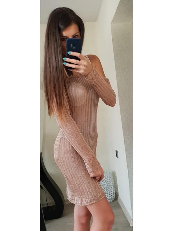 narzutka/ sukienka siateczkowa