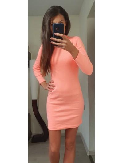 sukienka obcisla neon  orange