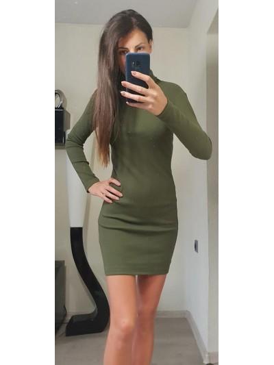 sukienka obcisla golf khaki