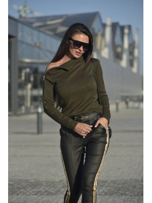 sweter zipper khaki