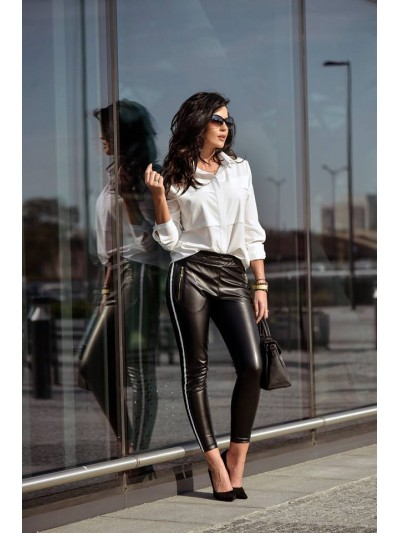 spodnie leather lampas M