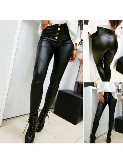 spodnie woskowane czarne złoty guzik xs