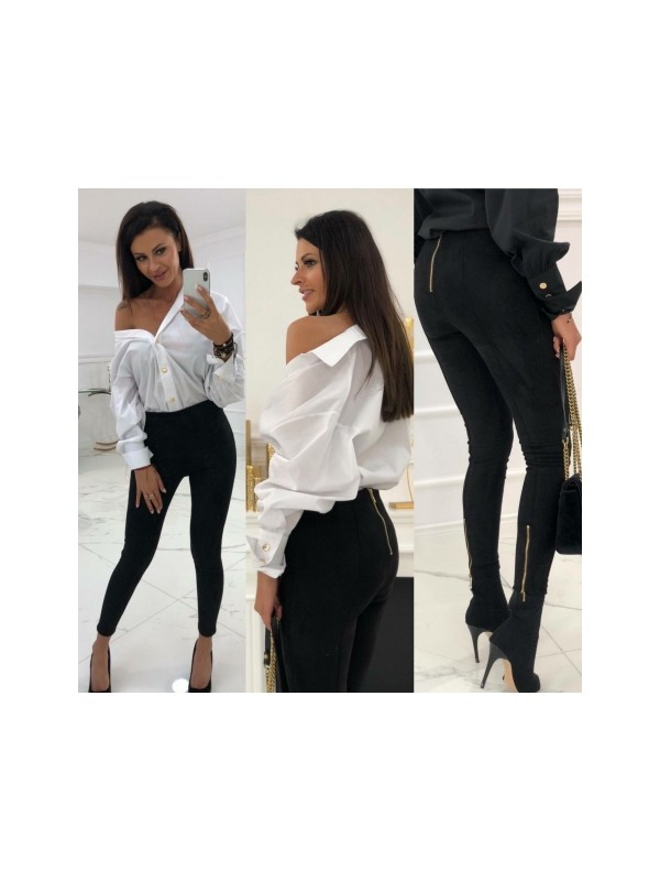spodnie zamszowe zipp  s