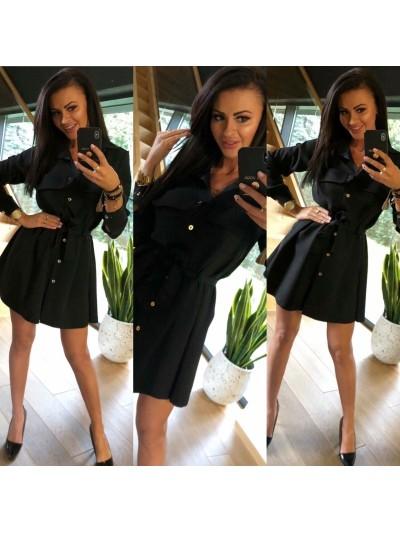 sukienka gold pocked czarna