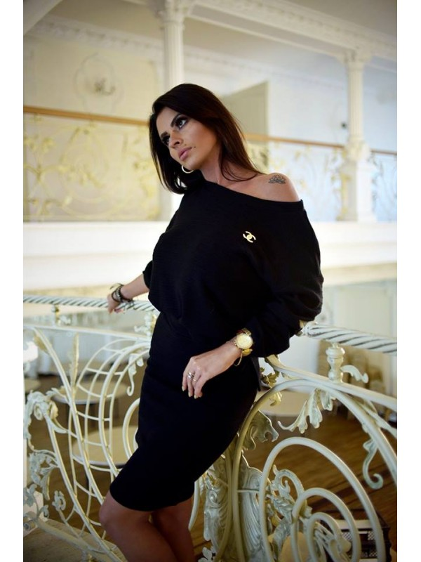 komplet sweterkowy czarny