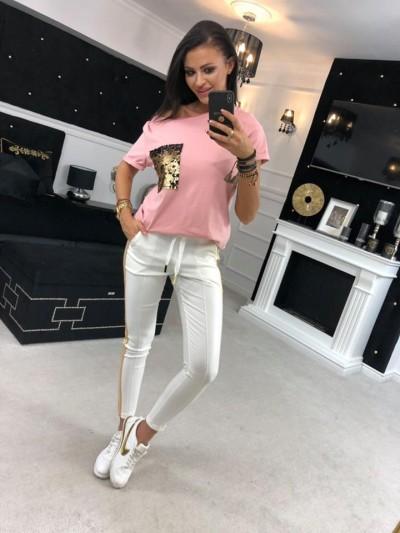 bluzka rózowa cekin
