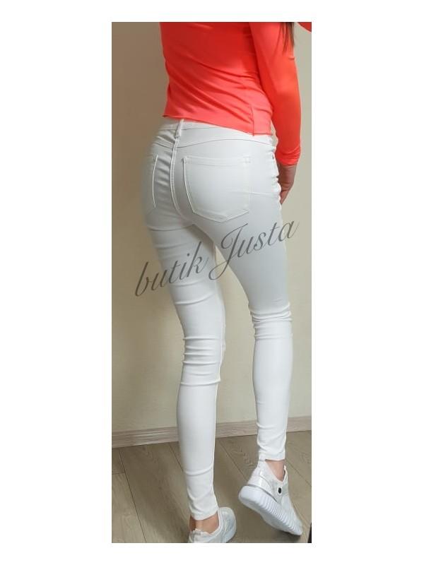 spodnie woskowane białe xs