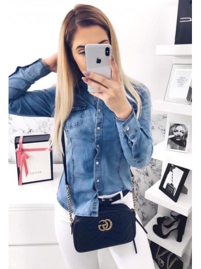 koszula jeans L