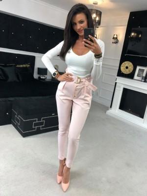 spodnie exclusive rozowe M