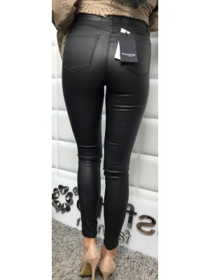 spodnie woskowane czarne xs
