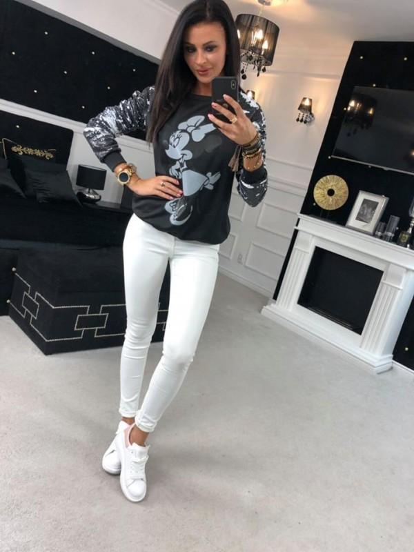 bluza miki cekin czarna