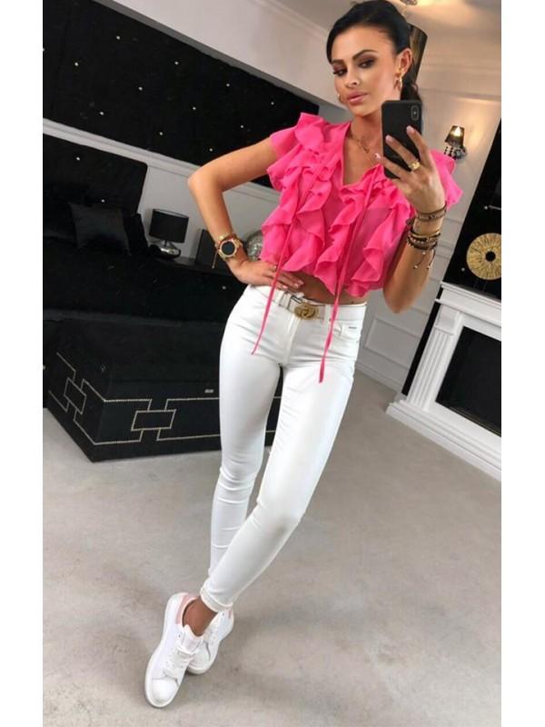 bluzka controverse m neon róż