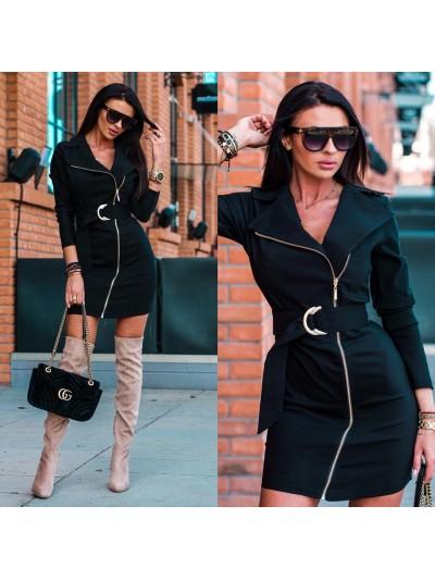 sukienka zipper M czarna