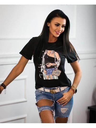 koszulka Gucci czarna Voga