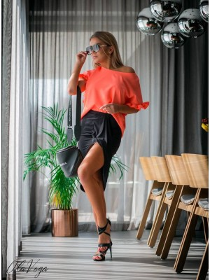 spódnica asymetryczna czarna