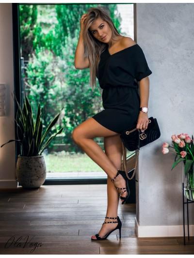 sukienka v basic czarna