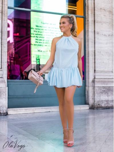 sukienka roma błękit