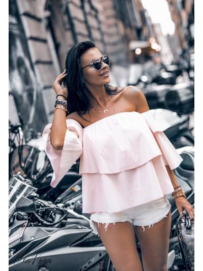 hiszpanka frills różowa
