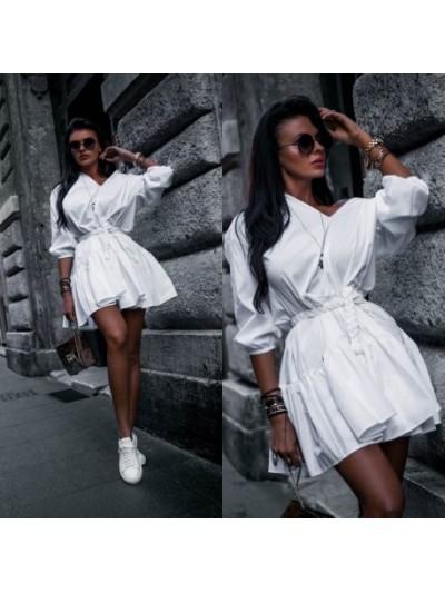 sukienka marine biała