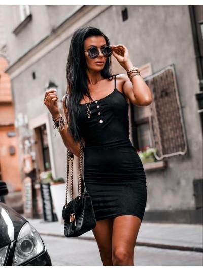 sukienka gold button czarna s