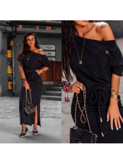 sukienka maxi cotton czarna