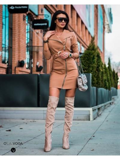 sukienka zipper carmel s