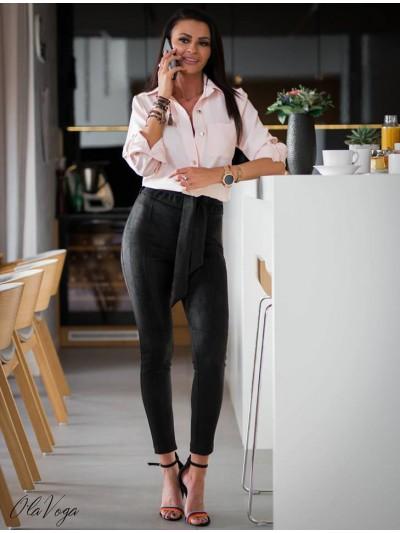 spodnie zamszowe czarne xs