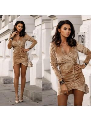 sukienka luxury gold camel s
