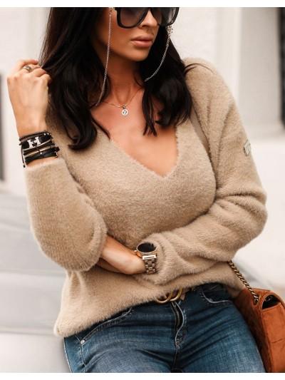 sweter alpaka bezowy