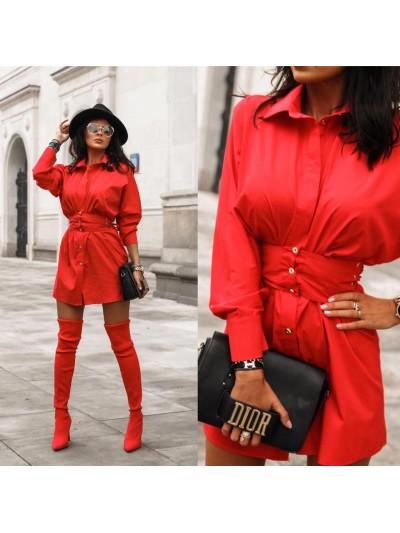Koszula Irys s czerwona