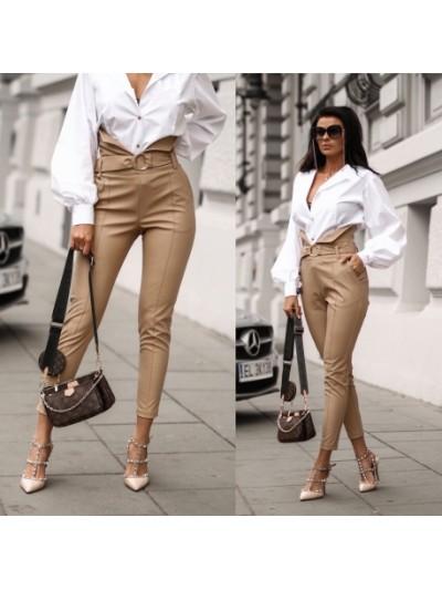 spodnie stella bezowe s