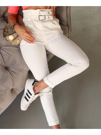 spodnie chic białe m