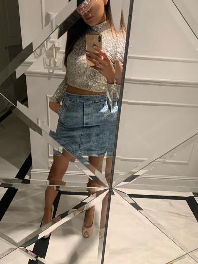 spódniczka jeans Riri M (L)