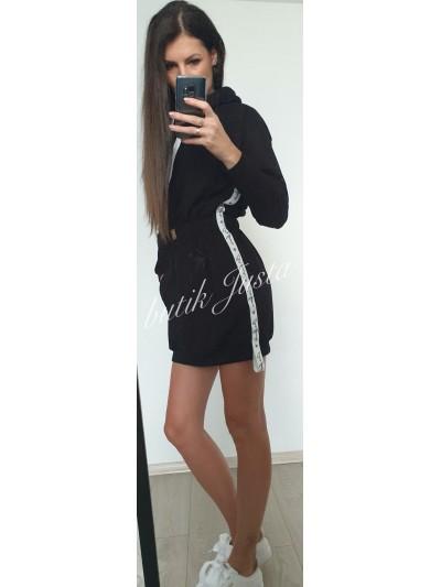 sukienka dresowa czarna s