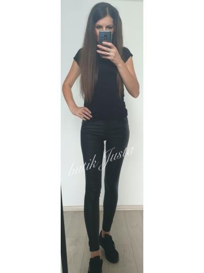 spodnie woskowane czarne s