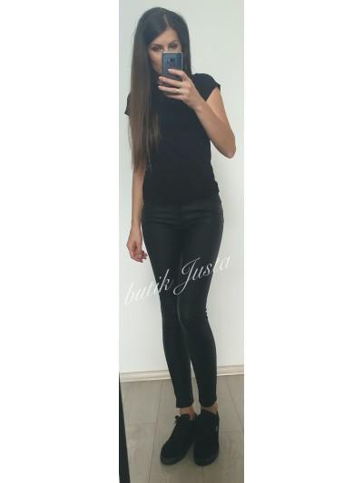 spodnie woskowane czarne m