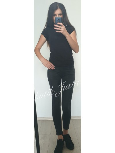 jeansy push up czarne m