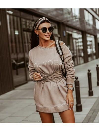 bluzo-sukienka stays beżowa